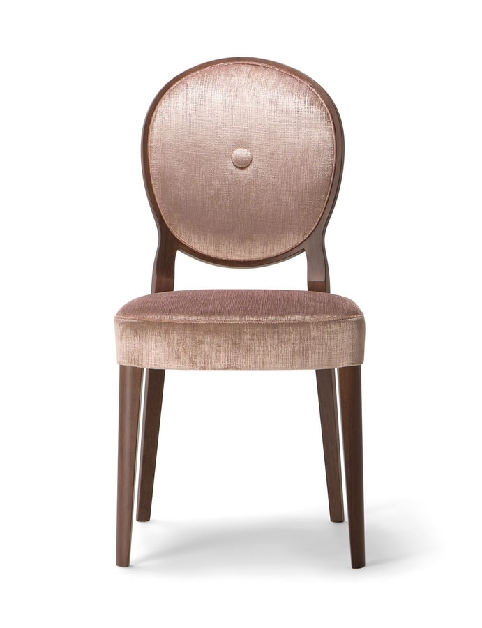 SOFIA SIDE CHAIR 045 S, Chair with round back