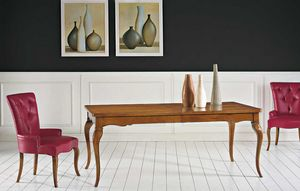 Art. 67, Classic wooden table, with two extensions