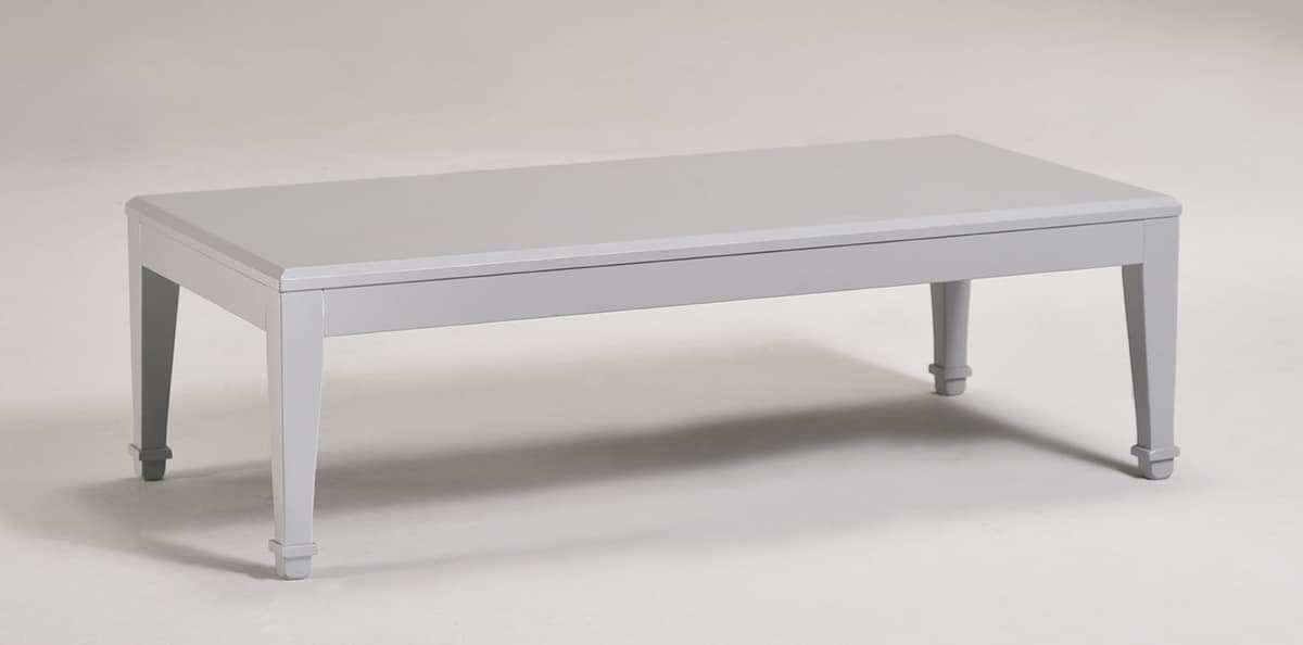 LUNA large small table 8239T, Rectangular coffee table made of wood, classic style