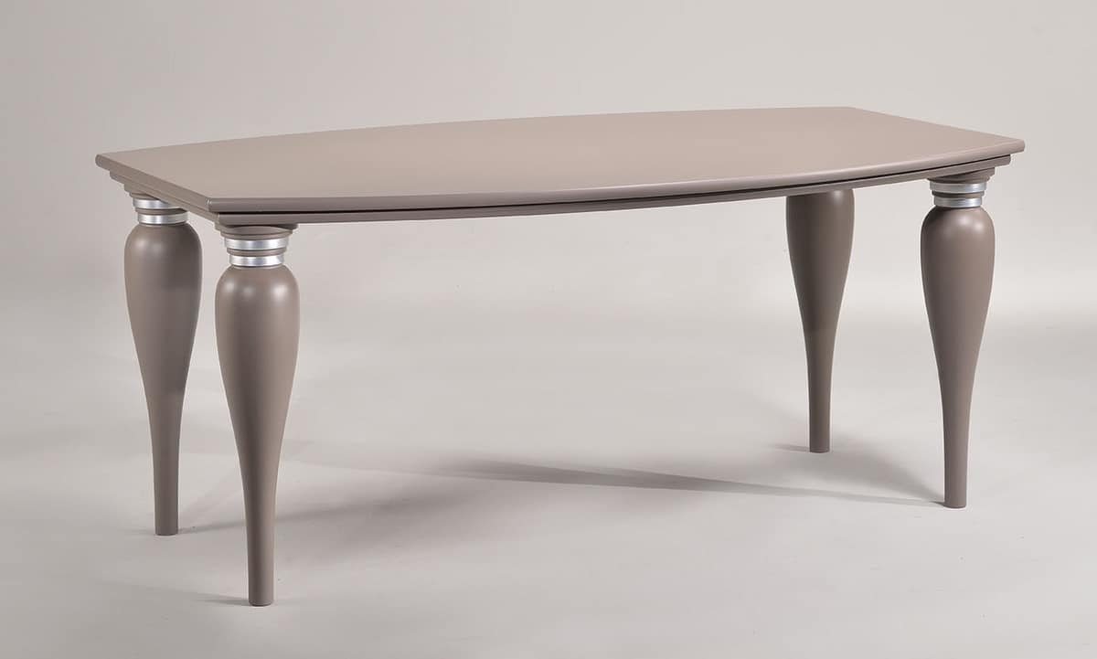 MARILYN table 8301T, Traditional table, rounded edges, for hotels