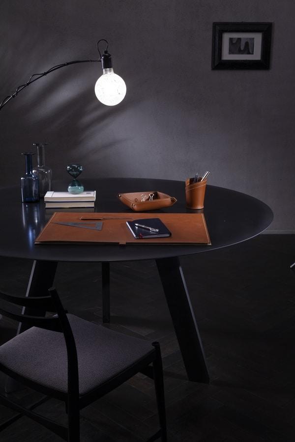 Aristotele 4pz, Leather desk set