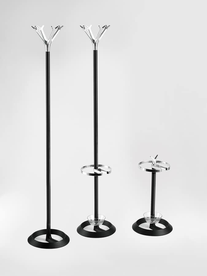 Battista, Floor hanger, cast iron base, aluminum and steel frame