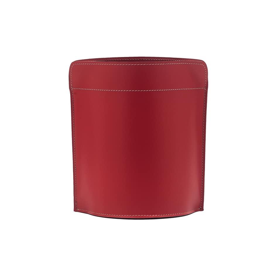 Canistro, Elegant wastepaper basket in regenerated leather