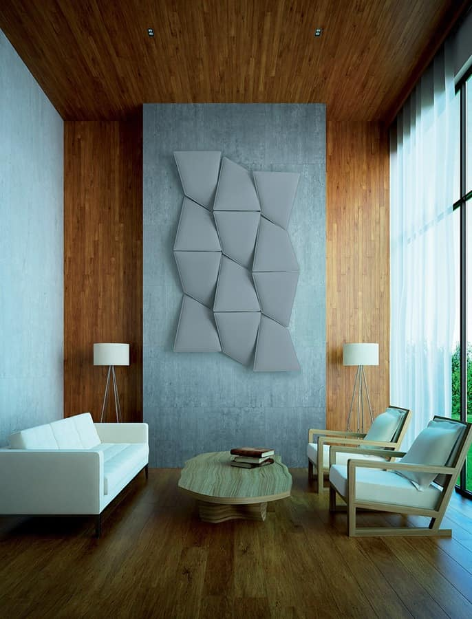 Flap 3, Sound-absorbing modular panel, for office and home
