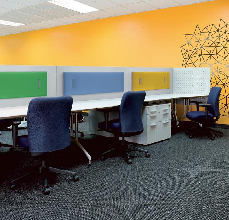 Mitesco 4, Panels with selective absorption, for offices