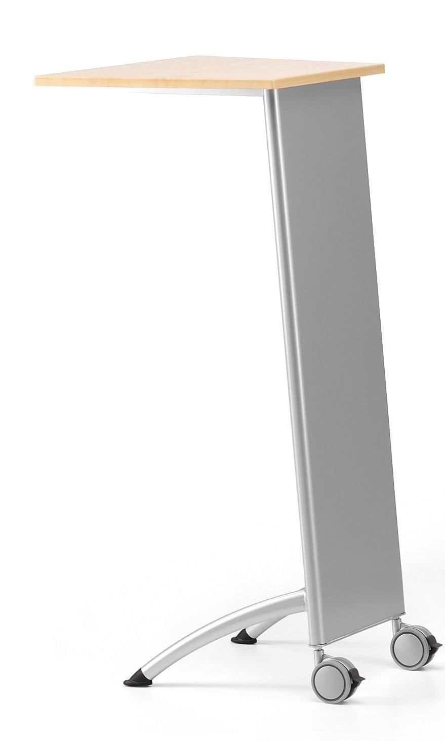 MULTIKOM 3002, Lectern on wheels, metal base and laminate top