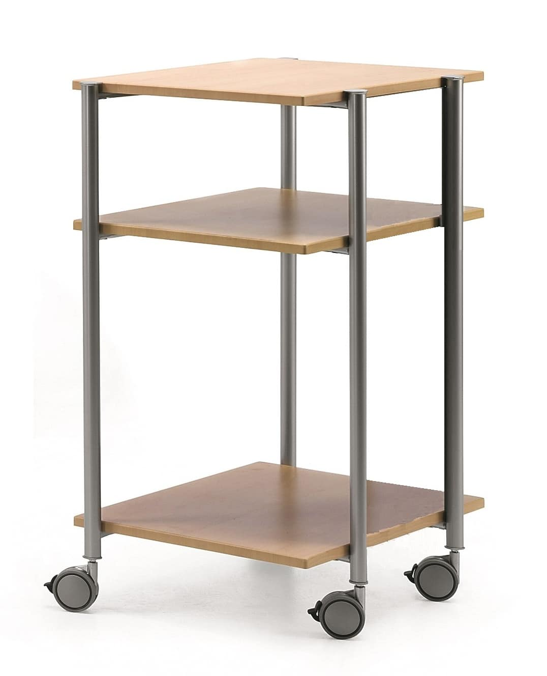 MULTIKOM 3005, Wheeled trolley in plywood and painted steel
