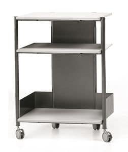 MULTIKOM 3007, Utility cart with wheels, for modern office