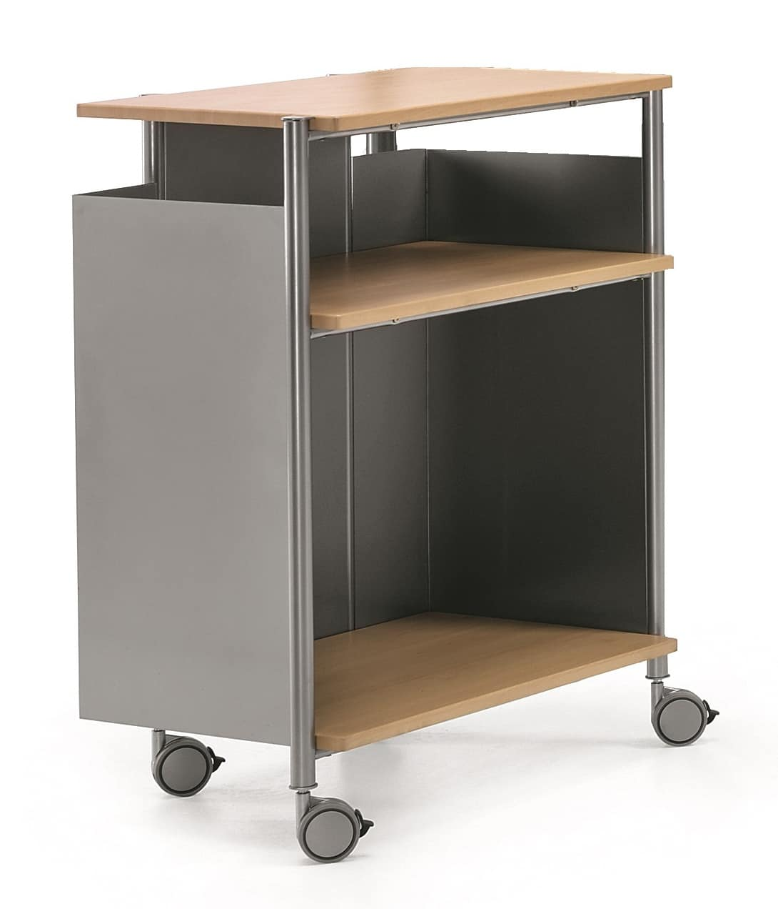 MULTIKOM 3009, Utility cart in steel and plywood, for offices
