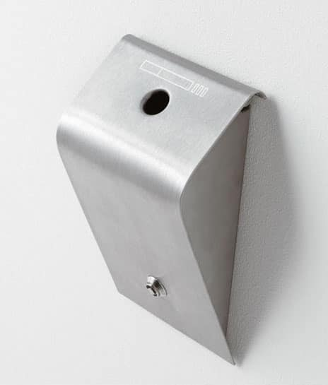 Piazza, Wall Ashtray in Steel for Outdoor spaces