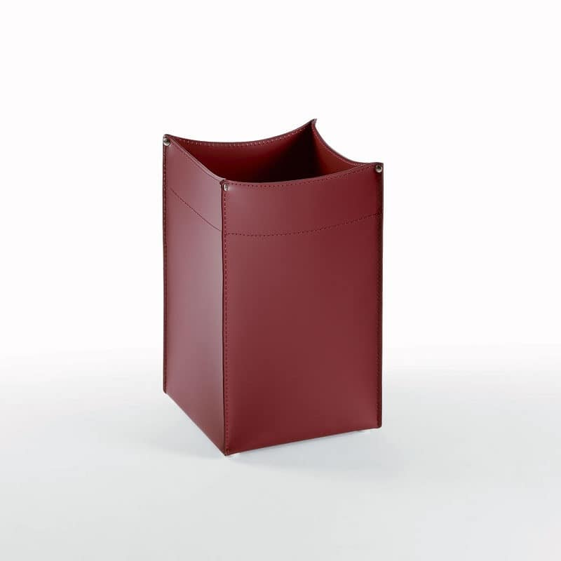 Quadro, Waste paper leather with square base, for office and home