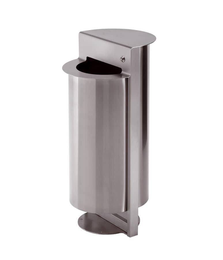 Torre, Steel ashtray with bag holder, for outside use