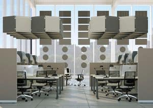 AIRTWIN, Modular acoustic panel, colored sound-absorbing panels