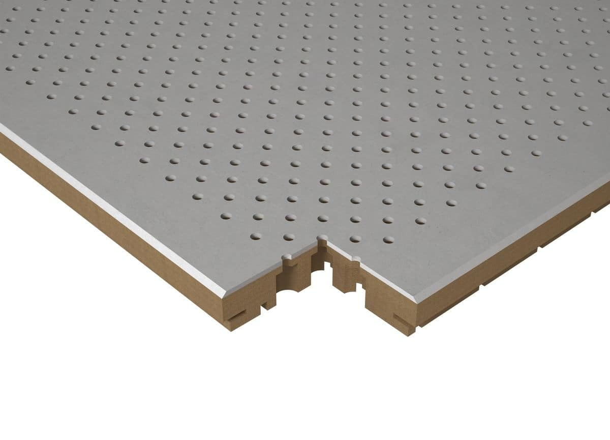 CONCRETECH, Mdf perforated panel modules with concrete finish