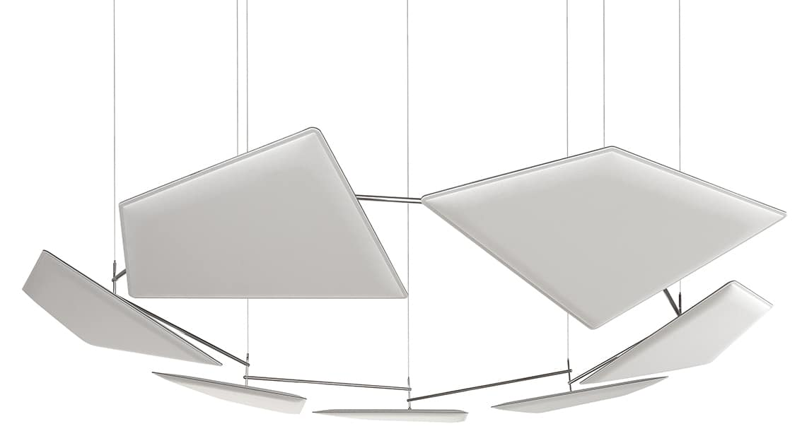 Flap Chain, Ceiling suspension system for sound absorbing panels