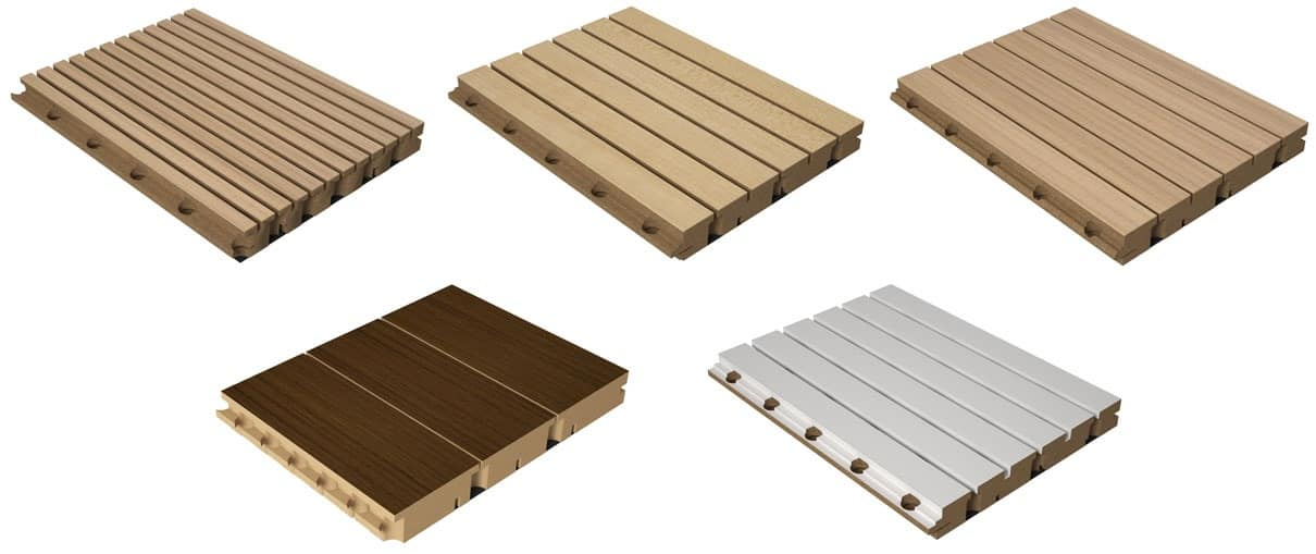 LISTEN DOGATO, Wooden modular panel for theaters, sound absorbing