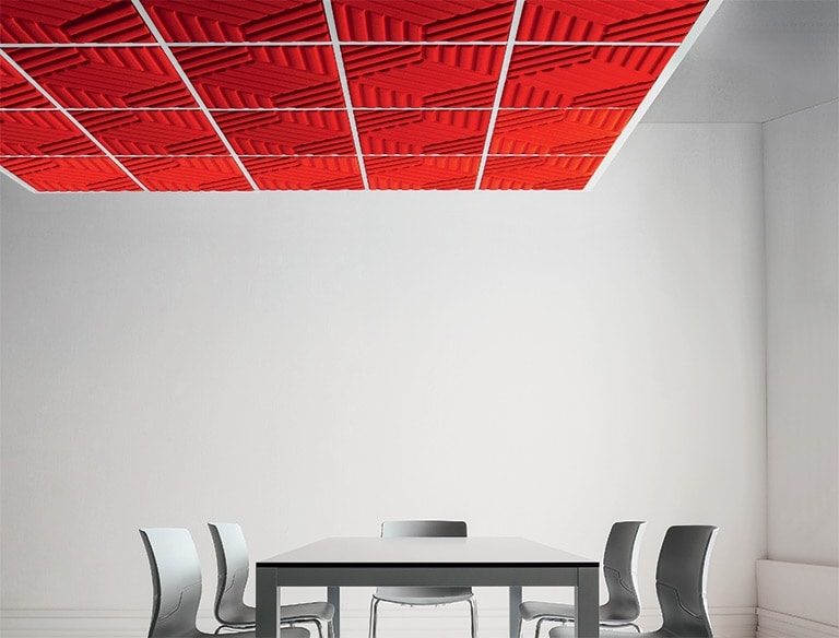 Madison, Sound-absorbing system for false ceiling