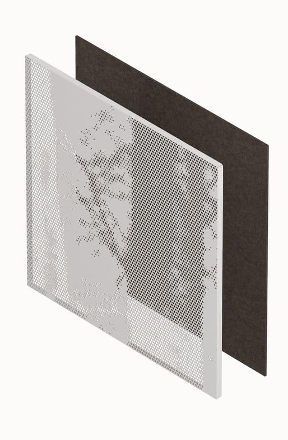 METALIA, Panels of sheet metal with three-dimensional holes