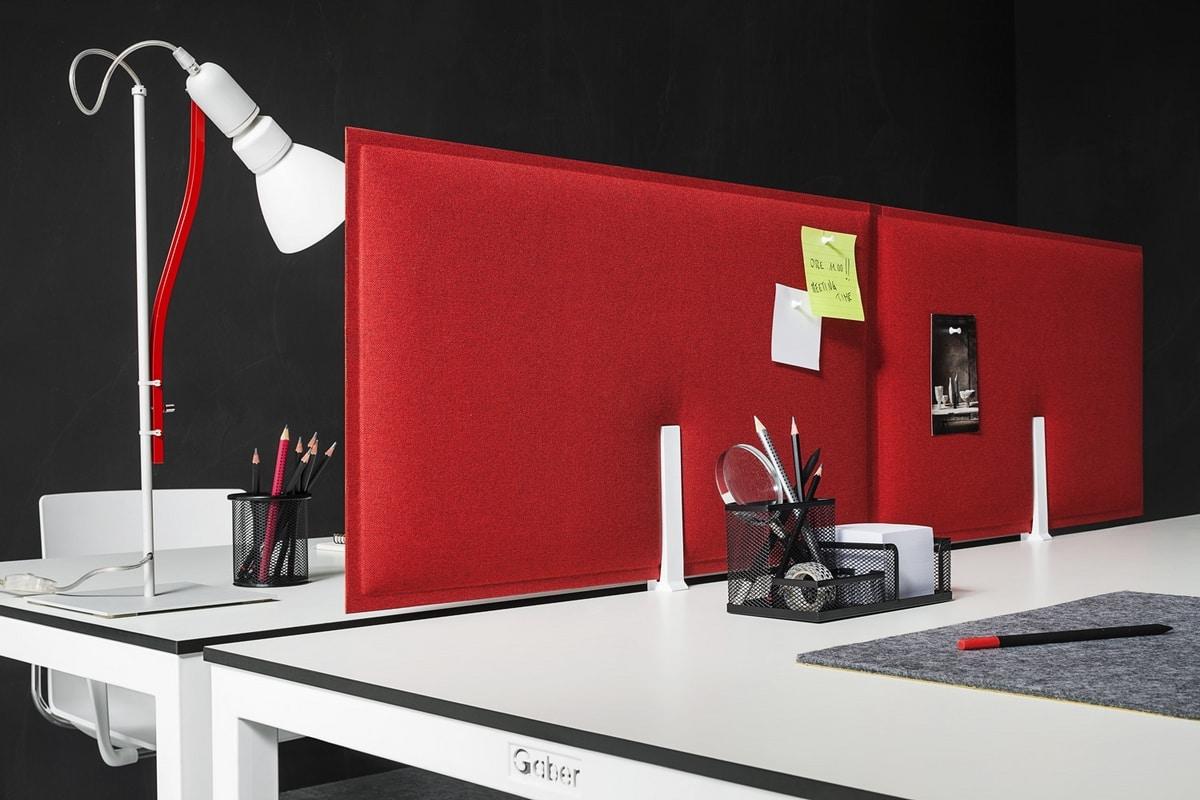 Piuma, Sound-absorbing panels for office desks