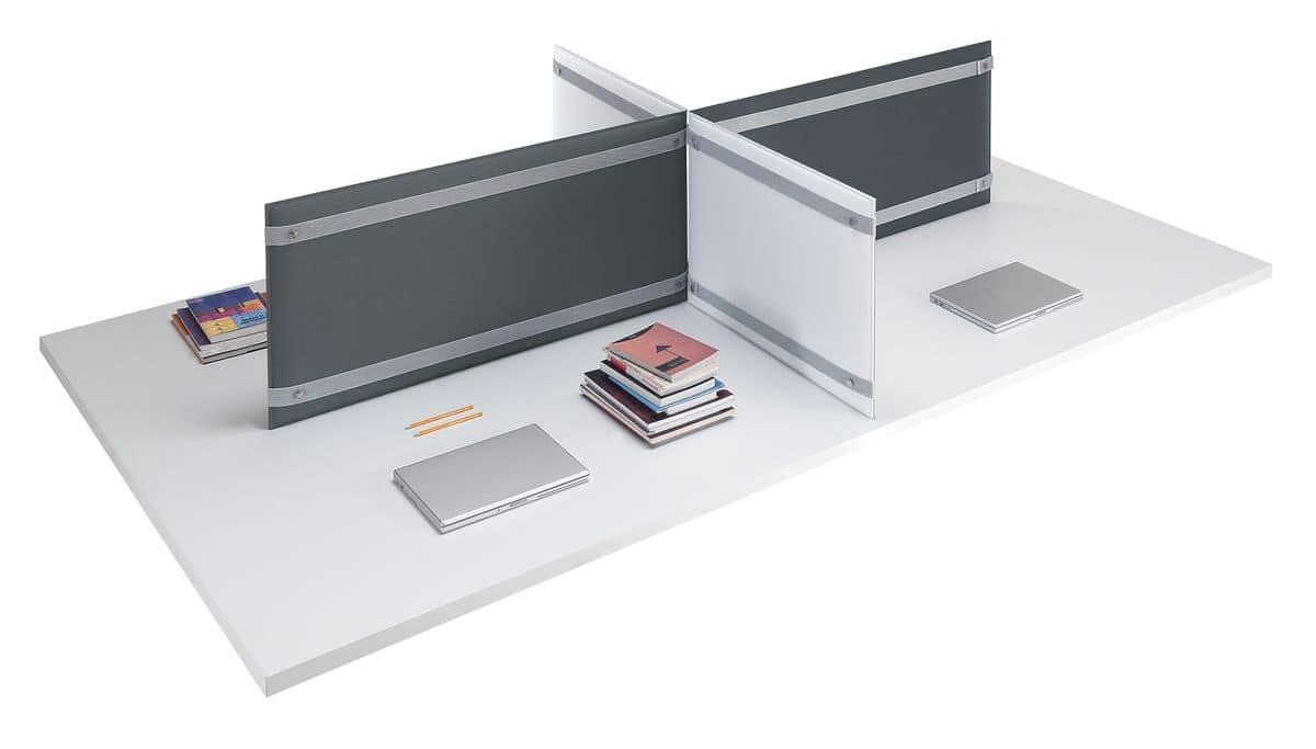 Pli Desk, Desk top partitions, for better acoustic comfort