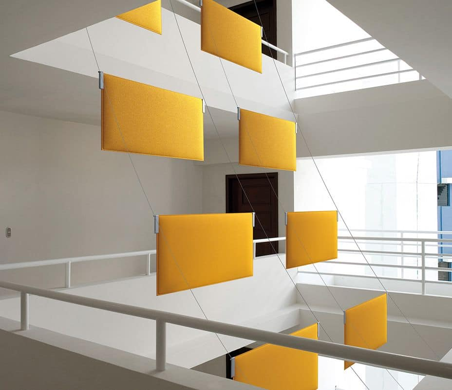 Tra, Suspended absorbing customizable panels