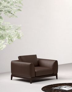 Akita armchair, Armchair with large seat
