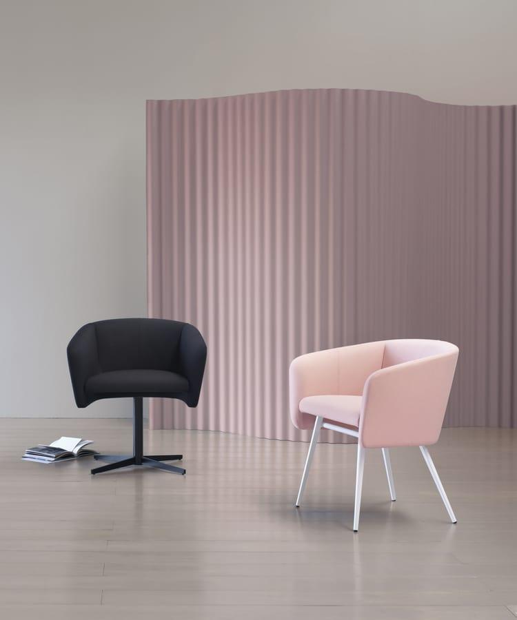 ART. 0056 BALÙ CROSS, Swivel armchair with spokes base
