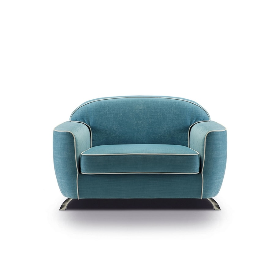 Charles, Armchair with rounded design
