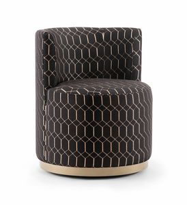 CHARLOTTE LOUNGE CHAIR 057 P G, Swivel cockpit chair