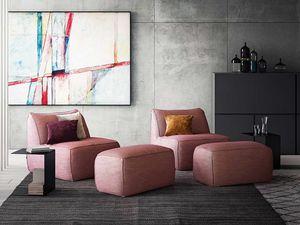 Eden armchair, Armchair with modern lines