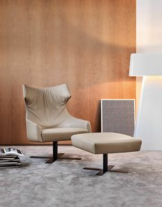 Grace, Bergere armchair, swivel, with removable cover