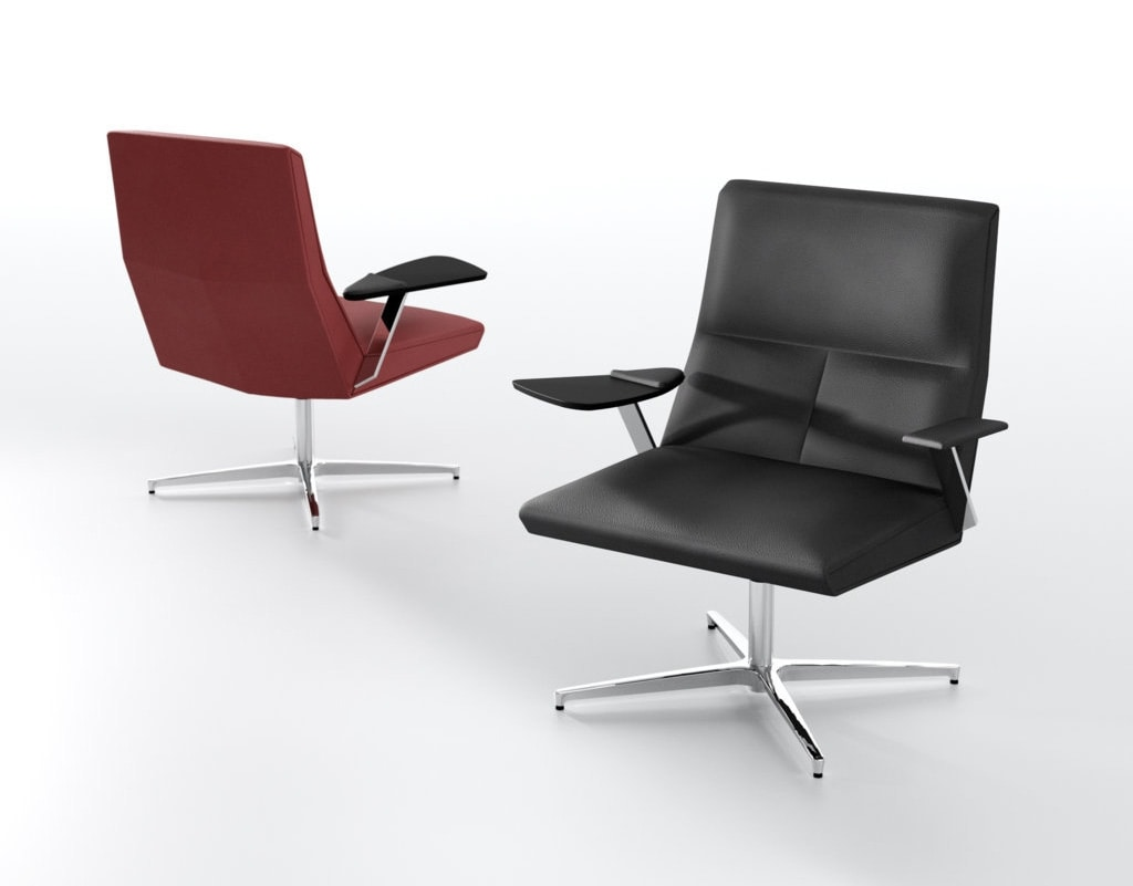 Impero L, Lounge armchair with writing tablet