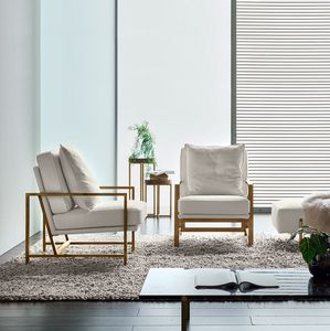Krizia, Armchair with metal structure