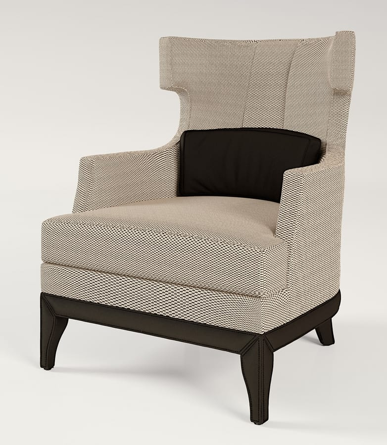 PALAIS-ROYAL Armchair, Armchair with wide seat and high back