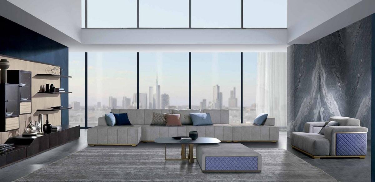 PO73 Cube armchair, Armchair with a rigorous design