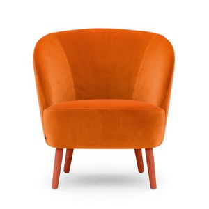 Rose 03041, Lounge armchair with a wraparound profile