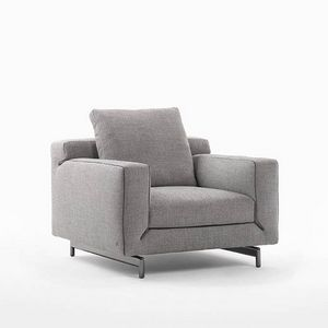 Taylor armchair, Design armchair in leather or fabric