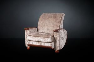 Deco, Armchair in walnut wood