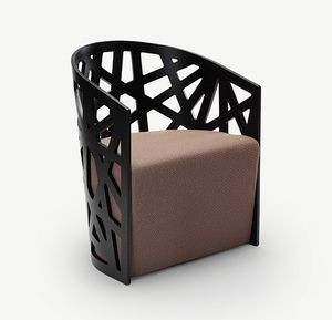 Mazy, Armchair with backrest with interwoven motif