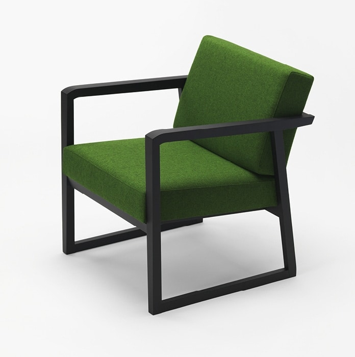 Pod, Armchair with minimal wooden structure