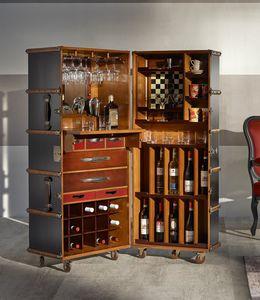 Baule Bar, Bar cabinet in the shape of a trunk