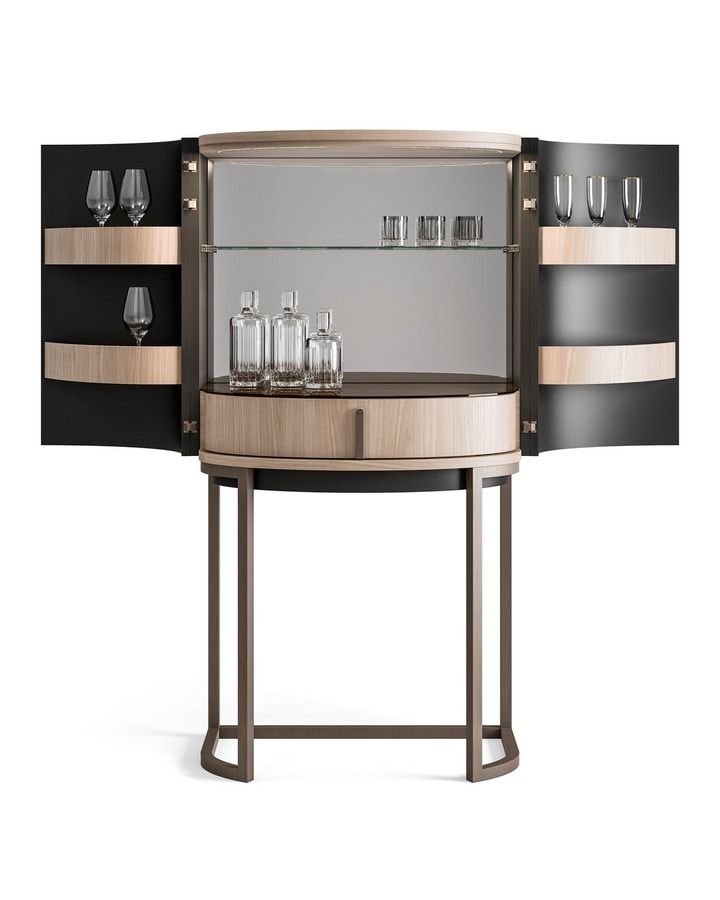 Dragonfly Art. D629, Curved bar cabinet