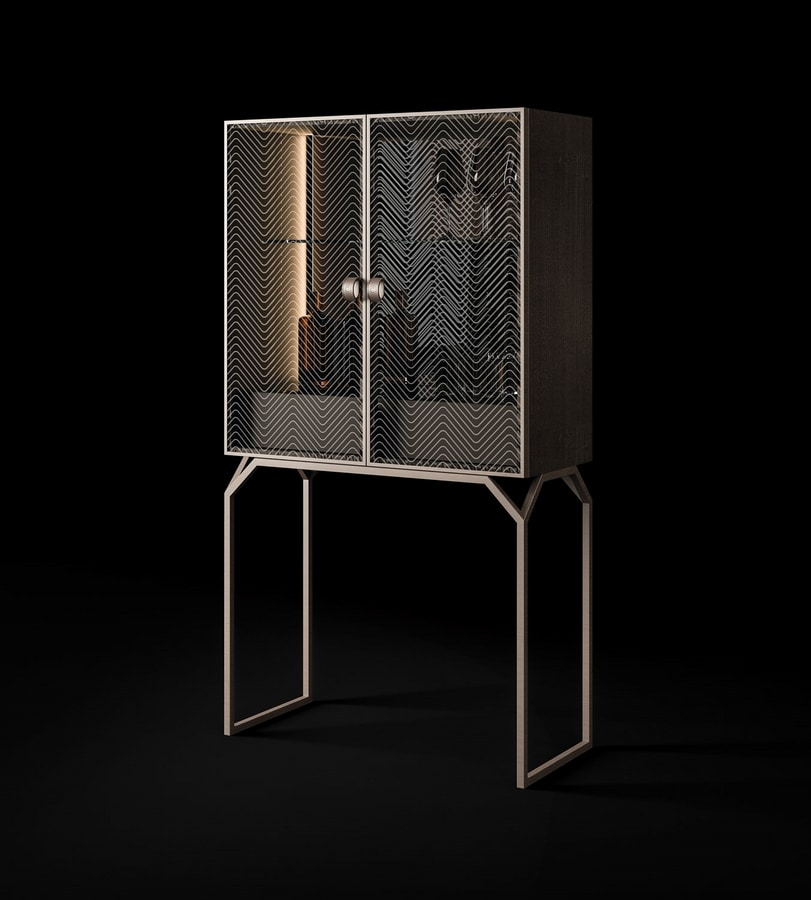 Dragonfly Art. D630, Bar cabinet with glass doors