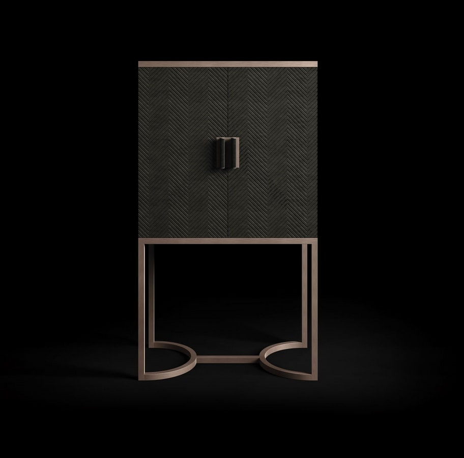 Dragonfly Art. D631, Bar cabinet with rigorous lines