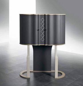 MB61 Mistral Bar cabinet, Bar cabinet with curvy shape
