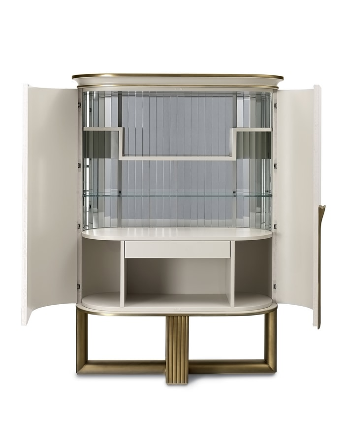 Oliver Art. OL50, Bar cabinet with mirrored interior
