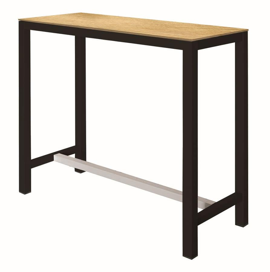 Banket, High table with metal structure, laminated top