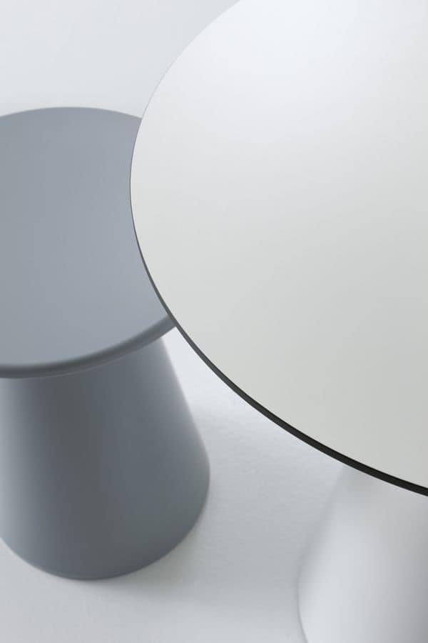 Roller table 50, Coffee table for bars, made of polymer