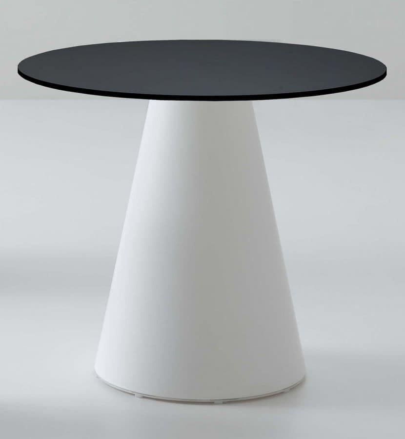 Roller tavolo 56, Bar table, in plastic, design