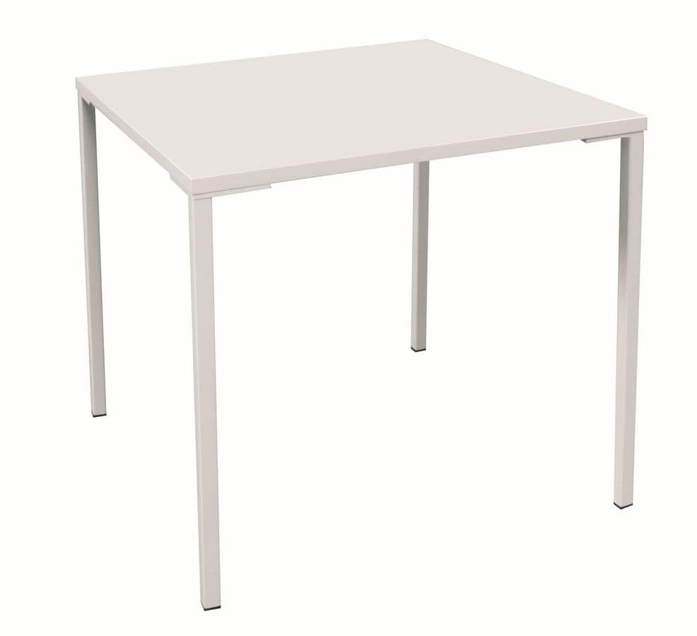 Simply Iron H75, Stackable metal table, for outdoors